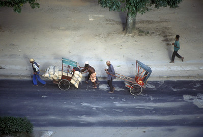 """Pousse-pousses,"" local transport in Antananarivo, Madagascar."