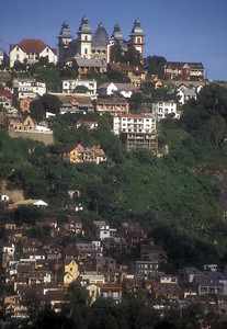 Antananarivo, capital of Madagascar, and the Prime Minister's Palace at top.
