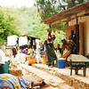 Village scene, Likoma village, Likoma Island, Lake Malawi.