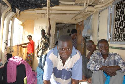 Passengers on second class passenger deck, MV Ilala, Lake Malawi.