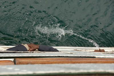 Passenger deck below, MV Ilala, Lake Malawi.
