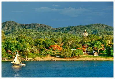 Cobue village, Mozambique, from Lake Malawi.