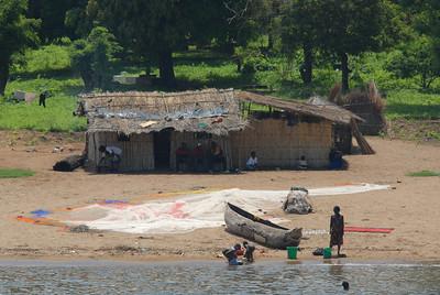 Lake Malawi shore at Monkey Bay, Malawi.