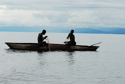 Fishermen off Likoma Island, Lake Malawi.