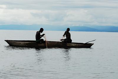 Fishermen off Likoma Island, Lake Malawi.