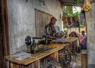 Tailor shop, Likoma Island, Malawi.