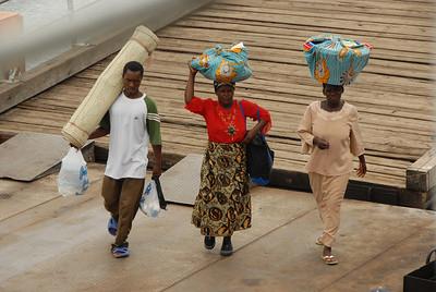 Passengers boarding the MV Ilala, Monkey Bay, Malawi.