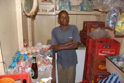 The little shop aboard the MV Ilala, Lake Malawi.