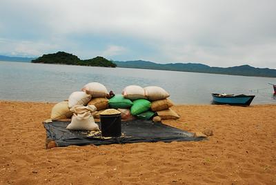 Beach, Likoma Island, Lake Malawi.