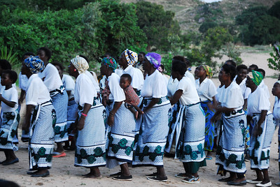 Initiation dance, some of the 9,000 residents of Likoma Island, Malawi.
