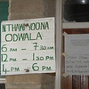 Sign at hospital, Likoma village, Likoma Island, Lake Malawi.