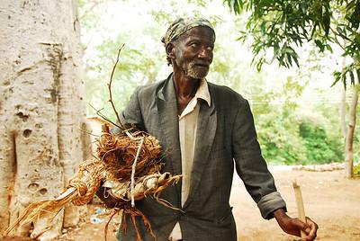 Local character, Likoma village, Likoma Island, Malawi.