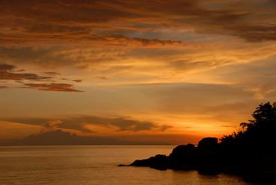 Sunset, Likoma Island, Lake Malawi.