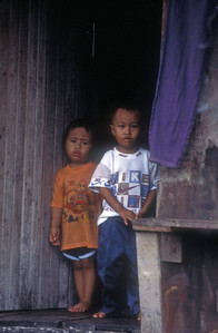 Children, rural Malaysia.