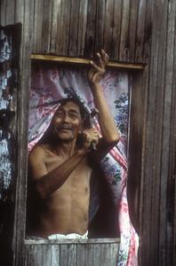 Home repair, Sabah province, Malaysian Borneo.