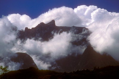 Mt. Kinabalu, 4,095 metres (13,435 ft), tallest peak in Malaysia and on Borneo, Sabah province, Malaysian Borneo.