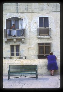 Women in Valetta, Malta.