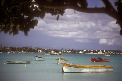 Boats at Grand Baie, Mauritius.