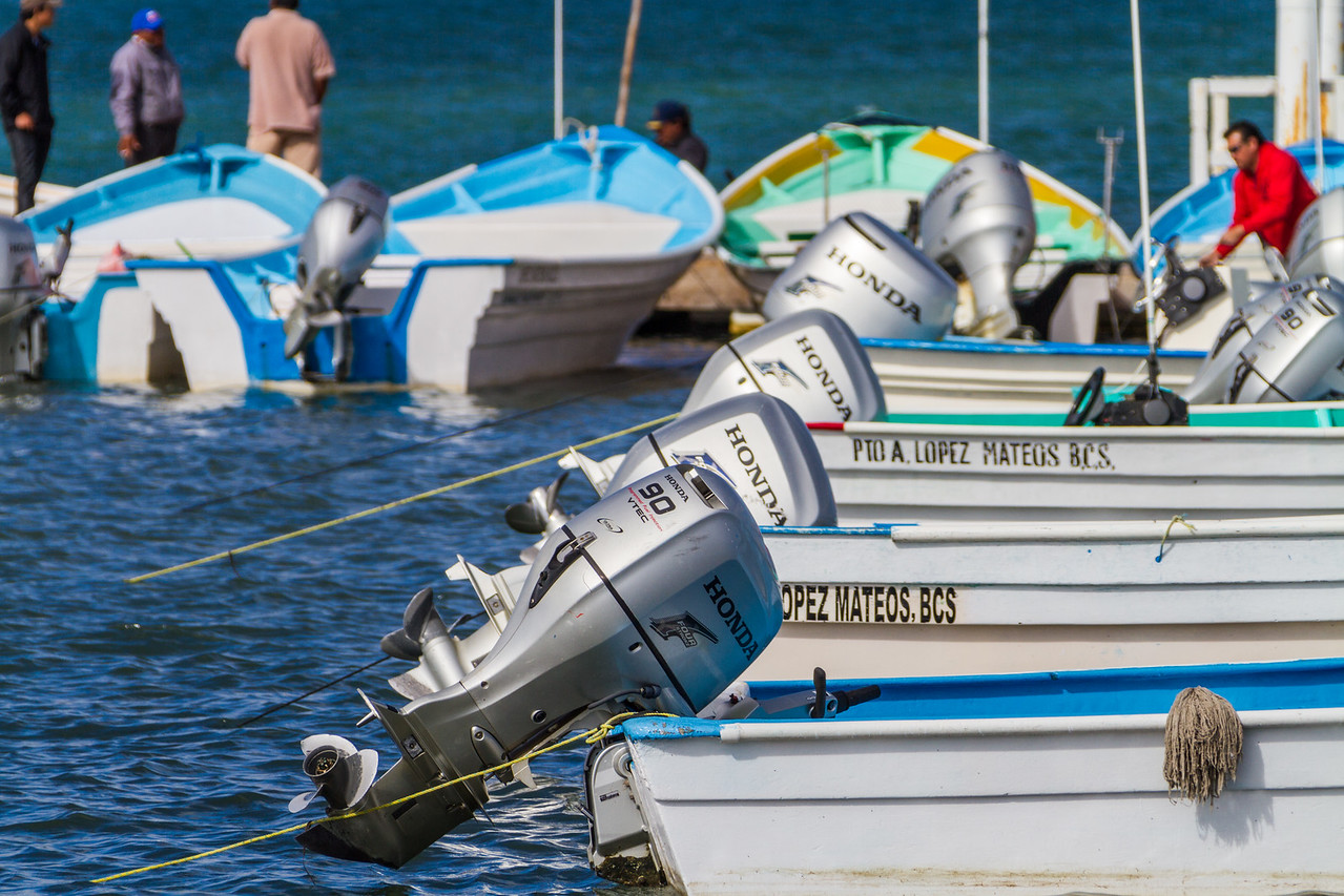 Close-up of speedboats - Mexico