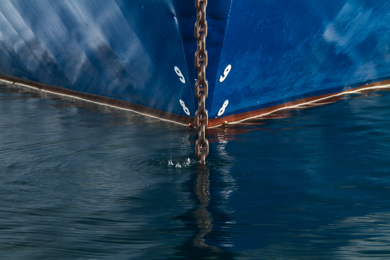 Anchor in front of keel - Close-up - Mexico