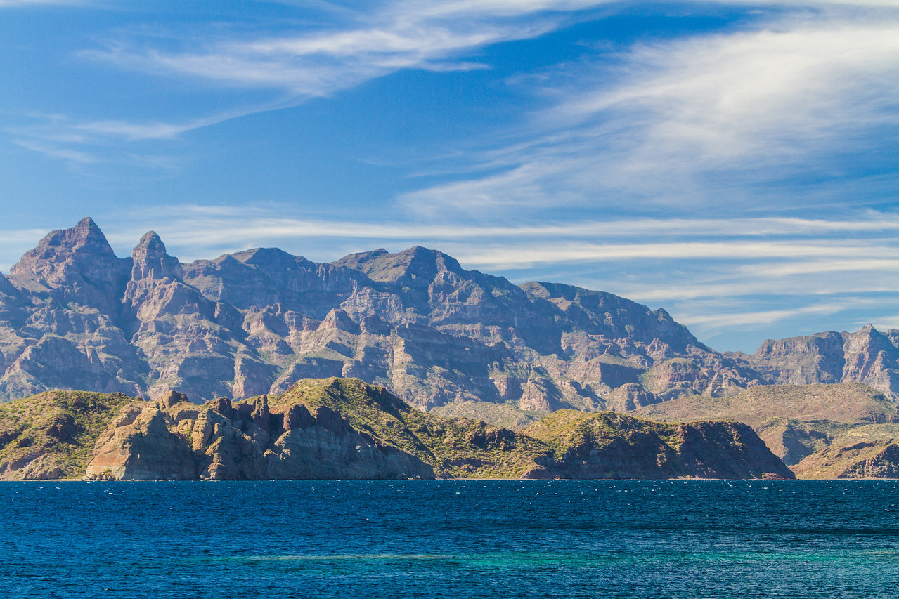 Mountains and the coast of Baja California Sur, Mexico