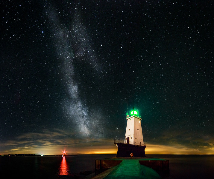 Milky Way Over the Ludington Lighthouse