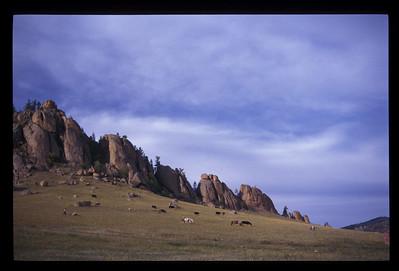 Landscape, rural Mongolia.