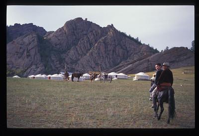 Coming into camp, Mongolia.