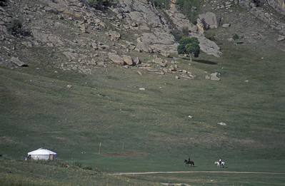 Ger and horses, rural Mongolia.