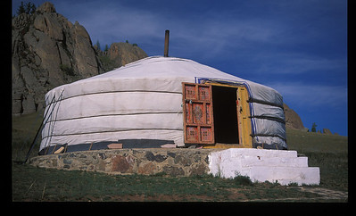 Yurt outside Ulan Bataar, Mongolia.