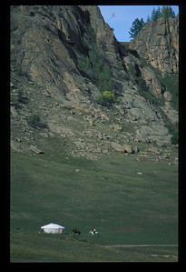 Ger, rural Mongolia.