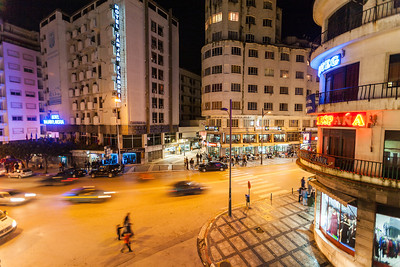 Tangier At Night, Morocco