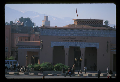 The Bank of the Maghreb, Marrakech, Morocco.