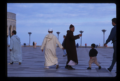 Plaza outside Hassan II mosque, Casablanca, Morocco.