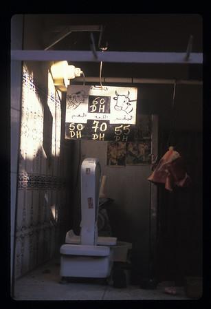 Moroccan butcher shop.
