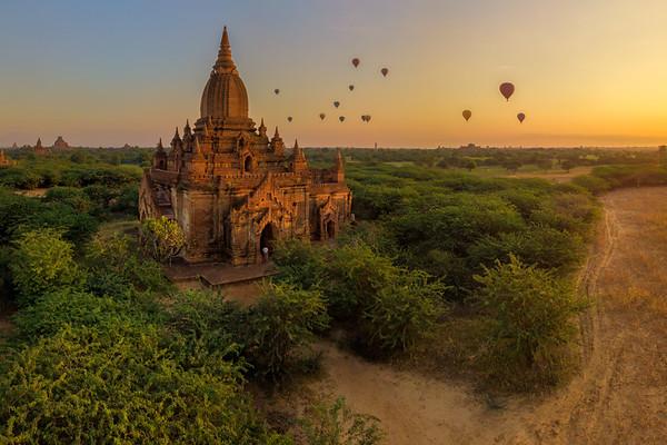 Bagan by drone (Myanmar)