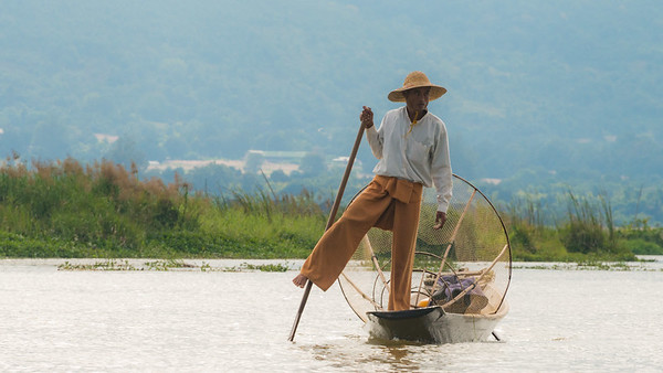Inle Lake, Myanmar. Exploring Inle Lake on boat, visting the fishermen, craft shops, temples, market and such. A lovely day out on the boat.