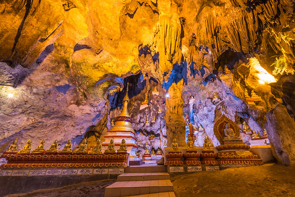 Pindaya cave, Myanmar. Located near Inle Lake, this cave filled with Buddas make for a great trips with a scenery and view on life of the Burmese.