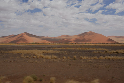 Long view of landscape, Namib-Naukluft National Park, Namibia.
