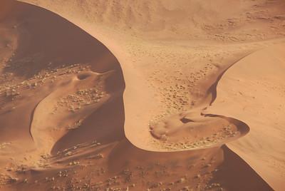 Aerial view of dunes, Namib-Naukluft Park, Namibia.