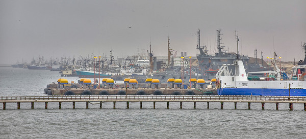 The docks at Walvis Bay, Namibia, HDR.