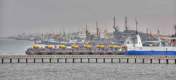 The docks at Walvis Bay, Namibia, HDR.