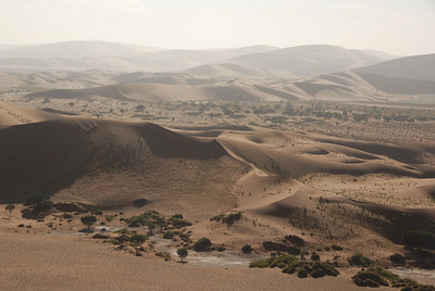 Aerial view of dunes, Namib-Naukluft National Park, Namibia.