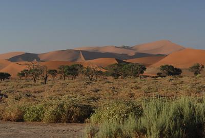 Sand dunes around Sossusvlei, Namibia.
