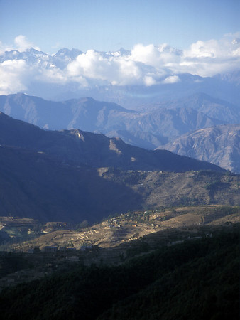 The Himalayas from Nagarkot, Nepal.