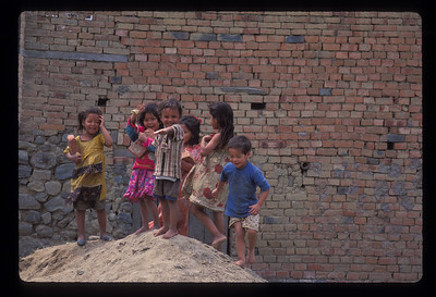 Kids playing in Banepa, Nepal.
