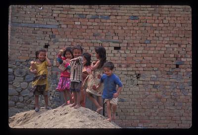 Kids playing in Banepa, Nepal.