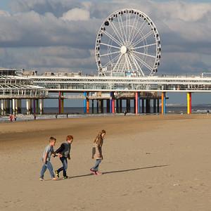 Kids at the beach in Scheveningen
