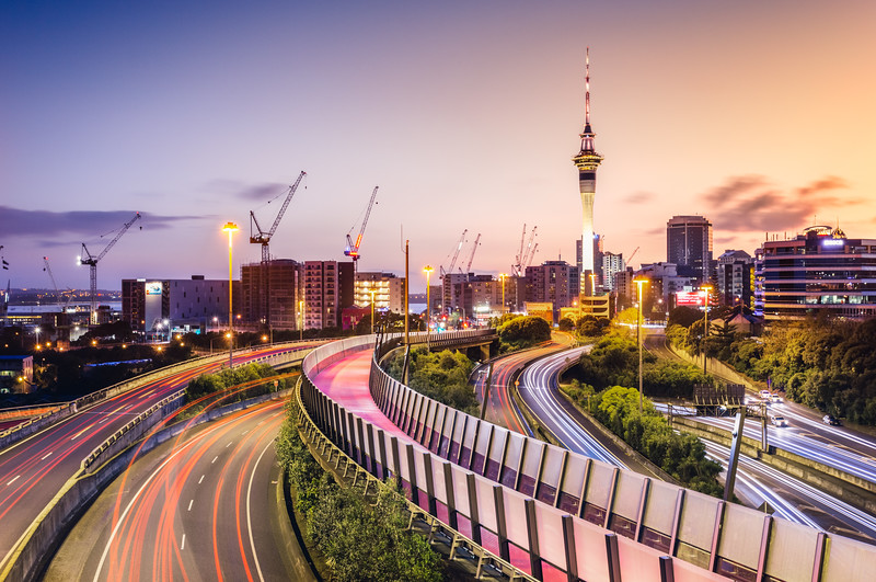 Auckland Sunrise Light Trails