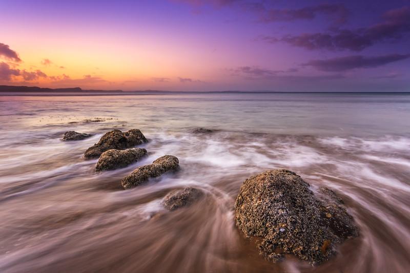 Stanmore Bay Rocks at Sunset